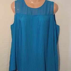 Calvin Klein Blue Top Size Large Sleeveless Blouse